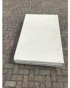 Trespa / HPL Plaat  (Wit) 136 x 90 cm - Dikte: 6 mm.