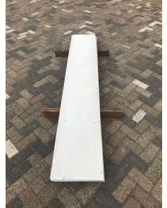 HPL / Trespa Plaat (Wit) 255 x 40 cm - Dikte: 6 mm.
