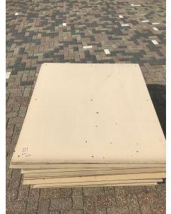 HPL / Trespa Plaat (Beige) ±130 x 120 cm - Dikte: 8 mm.