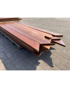 Hardhouten Plank 16x3 cm| Lengte: 190 cm