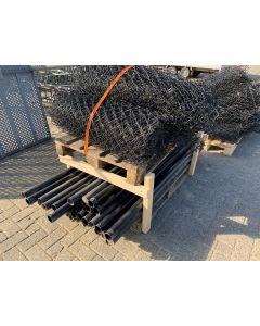 Gaashekwerk + Bovenbuis en Paal, 1x150  Strekkende Meter