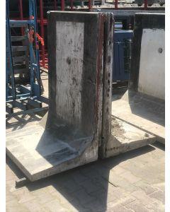Betonnen L-Element Grijs - 150x100x75 cm