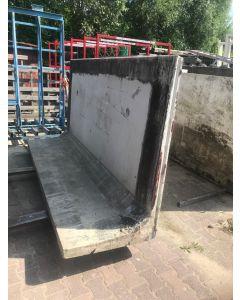 Betonnen L-Element Grijs - 300x150x80 cm