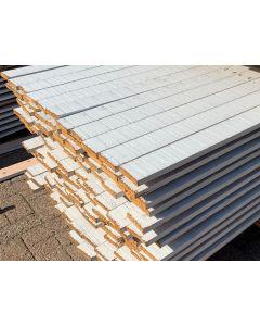 Sloophouten Plank 9,5 x 2 cm (Wit)