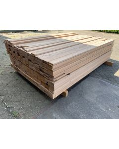 Vurenhouten Plank 9,5 x 1,5 cm | Lengte: ±220 cm