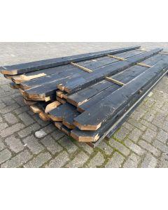 Gebruikt Balkhout 4x14cm | Lengte: ±380 cm (Zwart)