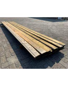 Geïmpregneerde Plank 12,5x1,6 cm | Lengte: ±450 cm (±16 M2)