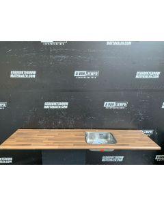 Keukenblad + Reginox Spoelbak, 208 B x 55 D
