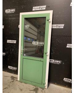 Aluminium Buitendeur + Kozijn 98 B x 214 H (Rechtsdraaiend)