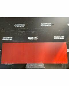 HPL / Trespa Plaat (Rood) 247 x 79 cm - Dikte: 6 mm