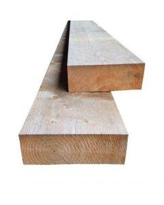 Nieuwe vuren houten balken 75x200mm