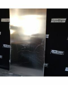 RVS Aluminium Plaat, 102 B x 190 L