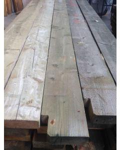 Geïmpregneerde houten balk, ±360 L x 22 B x 8 D
